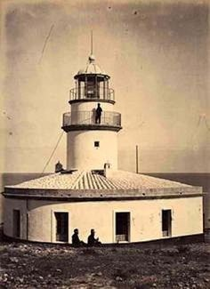 Faro de Oropesa, provincia de Castellón. Fotografía de José Martínez Sánchezrealizada probablemente en 1867. En: Fondo Fotográfico de la Universidad de Navarra