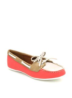 colorblock loafers $24.50 in BLACK CORAL GREEN - New Shoes   GoJane.com