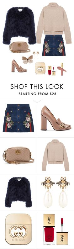 """Outfit Gucci"" by celestegendra on Polyvore featuring moda, Gucci, Rejina Pyo, MSGM y Yves Saint Laurent"
