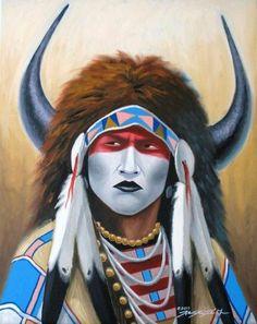 Native Americans Indians Buffalo Hunter ~ by Allen Knows His Gun