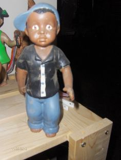 $15 Backwards cap boy: Check out these ceramics and more at http://adasstudent.weebly.com/african-american.html