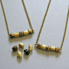 Reinvent a bar necklace with this textured paper bead tutorial