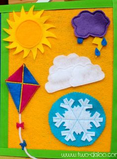 Homemade Felt Weather Board for Kids