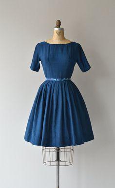 Pacific Atlantic dress vintage 1950s dress blue by DearGolden