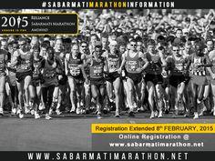 Reliance Sabarmati Marathon Registration Extended till 8th FEBRUARY, 2015 http://sabarmatimarathon.net/ #RelianceSabarmatiMarathon #Marathon #GujaratMarathon