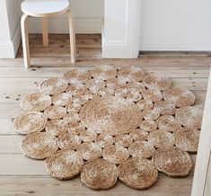 Camellia Hemp Round Rug – Shop Armadillo and Co Rugs – Dear Keaton – Round Rugs Living Room Sisal, Diy Carpet, Rugs On Carpet, Living Room Rug Placement, Knit Rug, Natural Area Rugs, Braided Rugs, Round Rugs, Carpet Design
