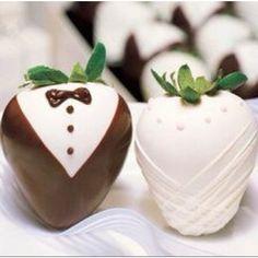 Tuxedos Tuxedo Strawberries, Wedding Strawberries, Chocolate Dipped Strawberries, Strawberry Dip, Strawberry Wedding, Strawberry Shortcake, Strawberry Hearts, Wedding Events, Wedding Favors