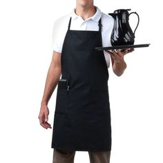 Full length Aprons 27'Wide X 33' Length with 37' Matching Poly Ties. Fully Adjustable Neck Adjustment Slider Three pockets- Two front Pockets and 1 pencil/Pen Pocket Made out of 7.2 Oz 100% Jet Spun ...