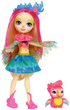 Enchantimals 6-inch Fashion Doll - Peeki with Parrot