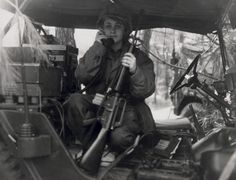 Pfc. Janice Hayes participates in a field exercise in April 1974.