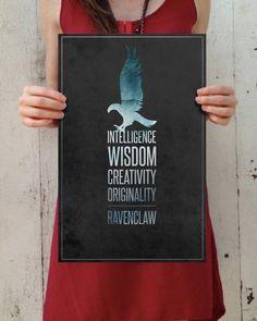 "Harry Potter: Hogwarts Houses - ""Ravenclaw"" Digital Art 11x17 Poster Print"