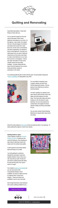 Quilting and Renovating