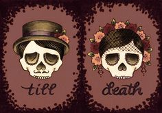 till death skulls illustration
