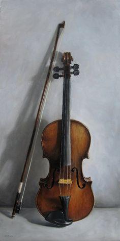Quot Violin And Bow Hanging On A Door Quot By Jan Van Der Varrt C