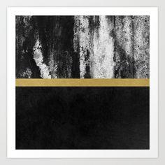 Golden Line / Black by Elisabeth Fredriksson