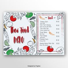 Thailand Menu Design Thai Restaurant Menu, Restaurant Menu Template, Catering Menu, Food Menu, Essie, Flyer Poster, Bakery Menu, Math Projects, Coffee Menu