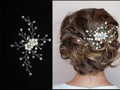 Tutorial Hair Piece Pearl Hair Pin Hair Comb Accessory Hair Vine - YouTube