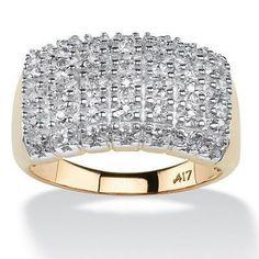 Bague en or 10kt et diamants