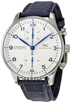 IWC Portuguese ChronoAutomatic Steel Blue Mens Watch IW371417 http://amzn.to/2ttwUNA
