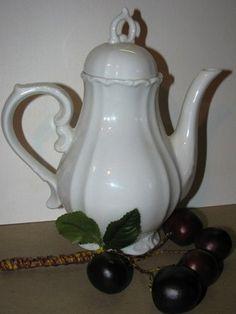 Sweet Porcelain Tea Pot English Tea Pot White by TheIDconnection, $28.00