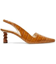 Rejina Pyo Joan Croc-Effect Leather Slingback Pumps Fashion Me Now, Girl Fashion, Shoes Too Big, Net A Porter, Slingback Pump, Trendy Shoes, Toe Shoes, Summer Trends, Strappy Sandals