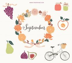 CLIP ART  September  for commercial and personal use by theinknest, €6.35