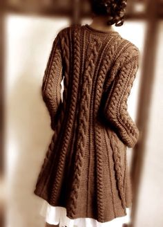 Cardigan with interesting cables