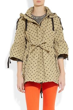 RED VALENTINO  Polka-dot appliqué twill parka