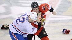 Mayweather-Guerrero wasn't the only fight this weekend... Ottawa Senators and Canadiens have a full on brawl in Game 3. The Senators ran away with a 6-1 victory, but the story of the evening was the 300 plus penalty minutes accumulated by both sides.