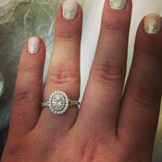Neil lane double halo oval ring