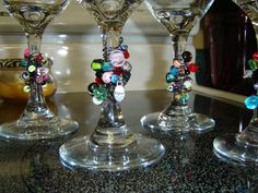 Beaded Wine Glasses..... I'm so making these