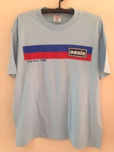 Oasis Vintage 90s T Shirt Rock BritPop Band World Tour Concert Rare Size XL in Entertainment Memorabilia, Music Memorabilia, Rock & Pop, Artists O, Oasis | eBay