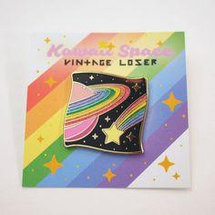 Kawaii Space Enamel Pin / Pin Game, Star Lapel Pin, Pastel Rainbow Pin, Planet Hard Enamel, Pastel Goth Clothing, Pastel Grunge Cloisonné