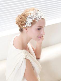Lace headband - bridal headband, wedding headpiece, wedding hair, floral headband on Etsy, $40.00
