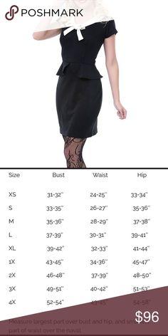 Heartbreaker fashion Matilda dress, black (B8) Matilda dress in black with white detailing 1950's style peplum dress heartbreaker fashion Dresses