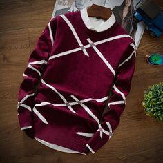 Mens Sweaters Wool Pullover Men Brand Clothing Casual O-Neck Sweater Men Dot Pattern Long Sleeve Cotton Shirt Male Cashmere Sweater Men, Men Sweater, Smart Attire, Winter Outfits Men, Winter Wear, Sweater Fashion, Pullover Sweaters, New Fashion, Long Sleeve