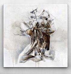 Nunzio Paci's Graphite and Oil Paintings Merge Nature and Anatomy