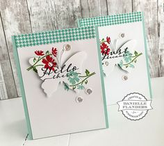 Butterfly cut-out card with tutorial by Danielle Flanders - Sept 2015