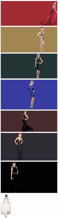Different Colour Dresses Of Taylor's