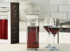 The Savino Wine Saver Carafe, discovered by The Grommet, is elegantly designed not only to serve wine, but to keep it exceptionally fresh, night after night.