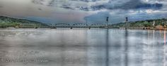 Stillwater Bridge Panorama - St Croix River Minnesota