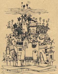 我自己想象一座城堡也是可以的。【阿团丸子】