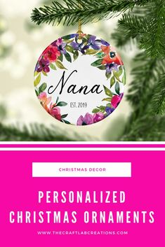 Personalized Christmas ornament for grandmother will be the perfect gift this Christmas season. We all have special names for our grandparents why not gift them such an ornament to express your love for them. Christmas Food Gifts, Christmas Tree Decorations, Christmas Tree Ornaments, Holiday Decor, Personalized Family Gifts, Personalized Christmas Ornaments, Minimalist Christmas, Vintage Design, Decorating On A Budget