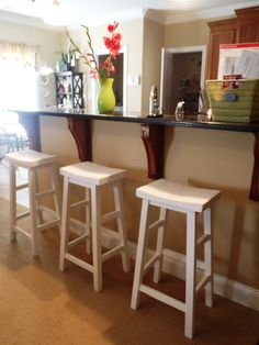 Simplest stool saddle back style do it yourself home projects do it yourself barstools lazy liz on less barstools solutioingenieria Choice Image