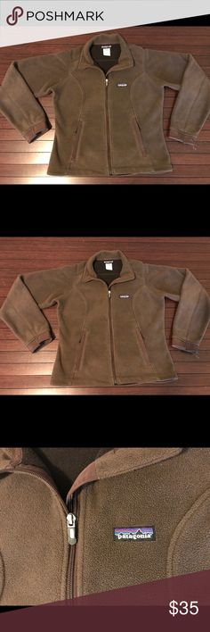 Patagonia Full ZIP Fleece Sweater Chocolate brown full zip Patagonia fleece sweater Patagonia Sweaters