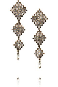 Erickson Beamon | Area gold-plated Swarovski crystal earrings  | NET-A-PORTER.COM