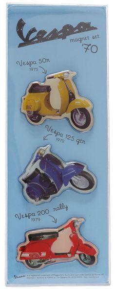 VESPA 1970S MAGNET SET $15.00 #vespa #housewares #vintage #retro #1970s #magnets