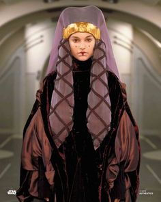 Natalie Portman - Star Wars: Episode I - The Phantom Menace Amidala Star Wars, Star Wars Padme, Rey Star Wars, Star Wars Art, Queen Amadala, Reina Amidala, Natalie Portman Star Wars, Star Wars Planets, Star Wars Canon