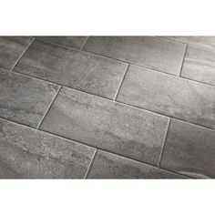Shop Style Selections Skyros Gray Porcelain Floor Tile Common - 3x3 tiles lowes