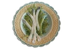 Majolica Asparagus Wall Plate - from majolica dream via One Kings Lane